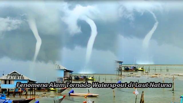 Waterspout di Laut Natuna